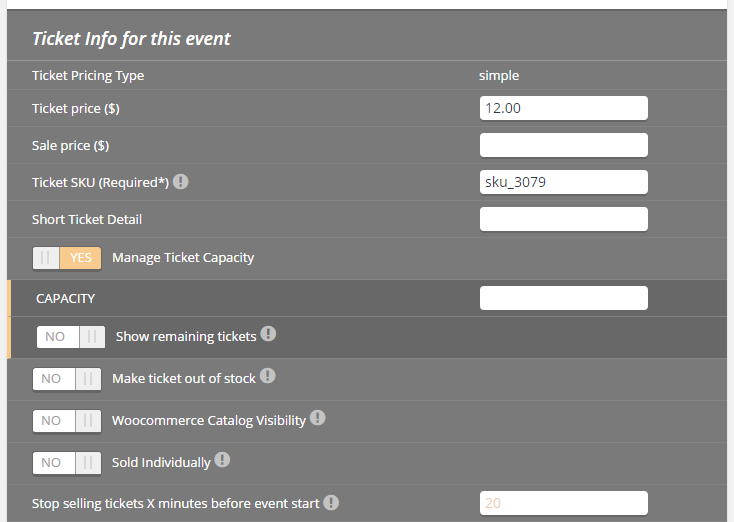 make tickets for an event